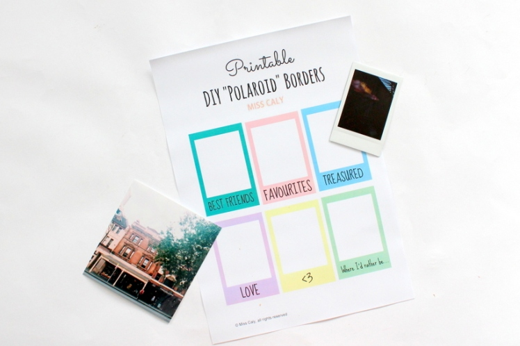 Printable DIY polaroid borders - Miss Caly (2)
