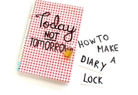 How to Make a Diary Lock in Under 5 Minutes! - Video Tutorial by Miss Caly