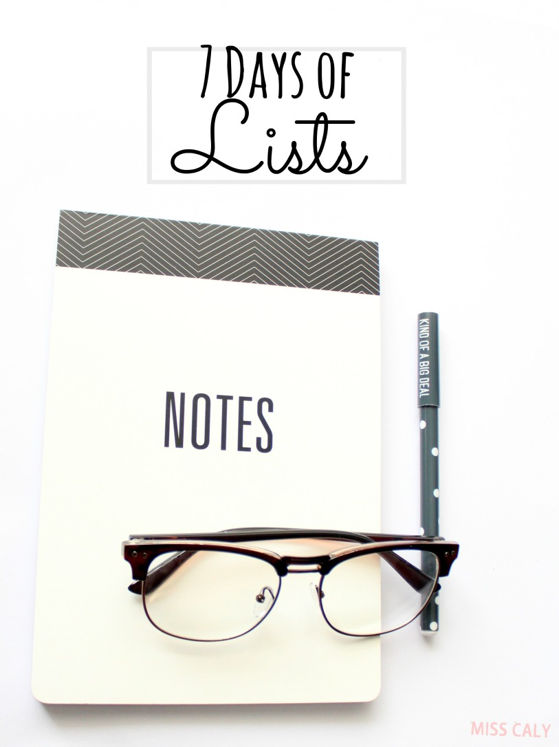 Take this fun 7 day challenge to write lists, lists and lists! - Miss Caly