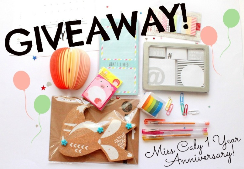 Giveaway! Miss Caly One Year anniversary