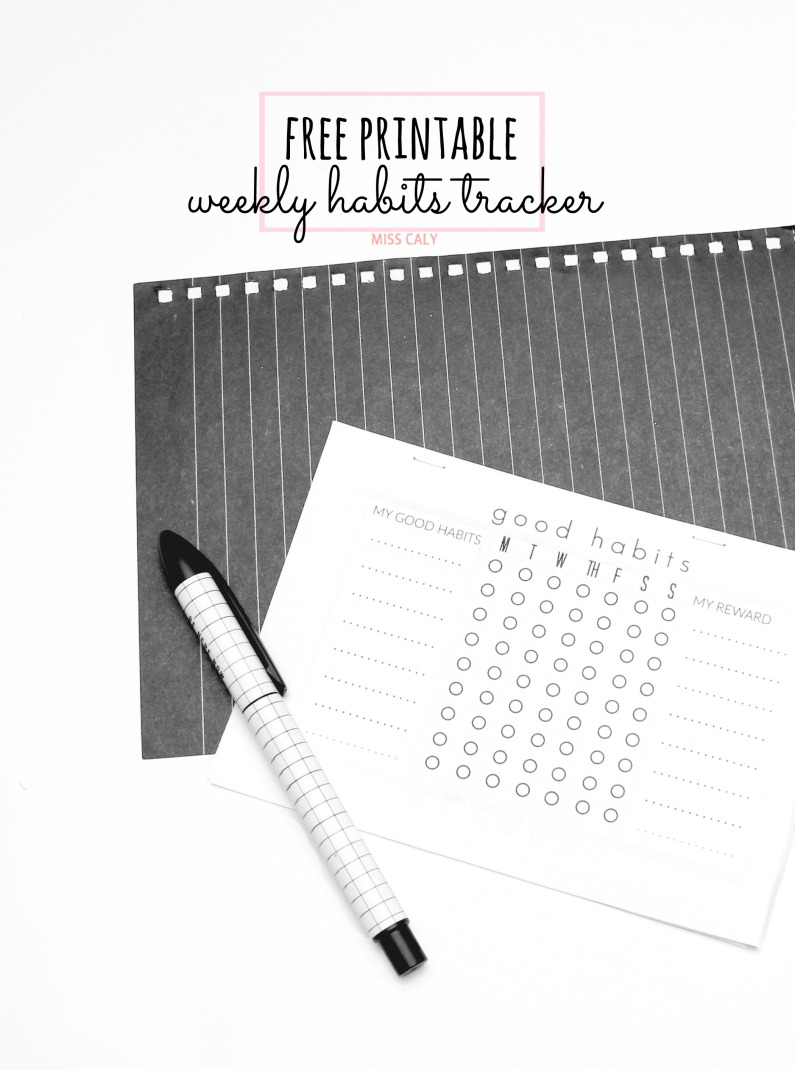 free printable weekly habits tracker! - Miss Caly