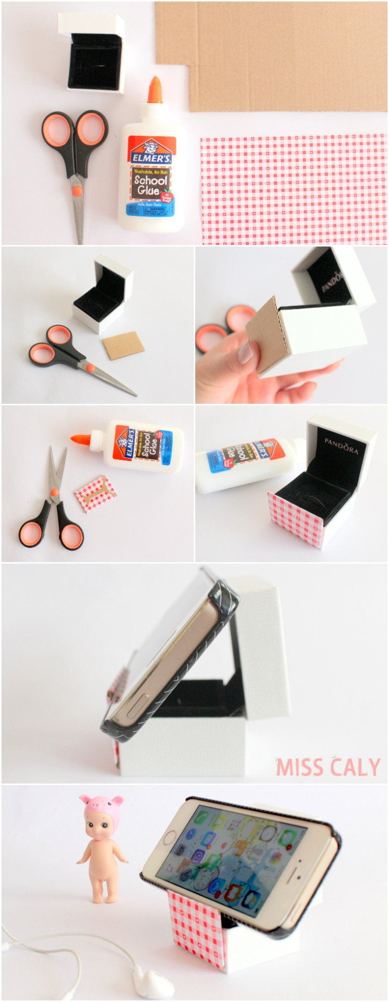 Life hack! How to make a DIY phone stand in under 5 minutes using a ring box - Miss Caly