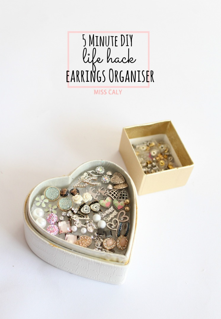 Life Hack! Organise your earrings in 5 minutes with this easy DIY! - Miss Caly