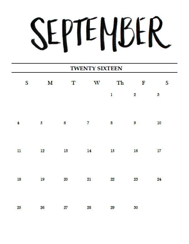 printable sept oct nov dec calendar 2016 updated m i s s c a l y. Black Bedroom Furniture Sets. Home Design Ideas