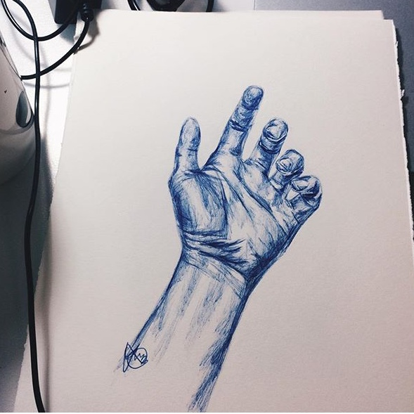 Hand Drawing Miss Caly
