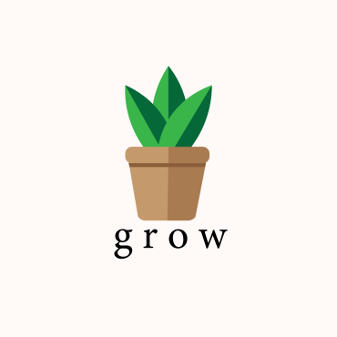 grow pot plant illustration miss caly