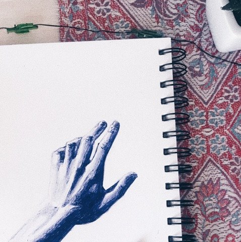 Hand drawing Instagram @misscalyblog